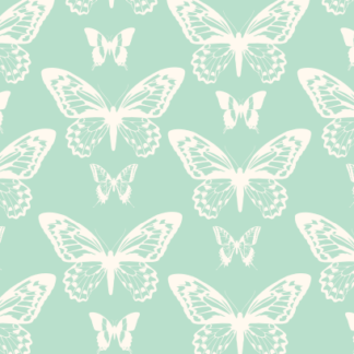 Butterfly Silhouette Green