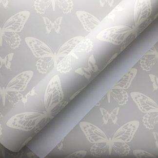 Butterfly Silhouette Grey