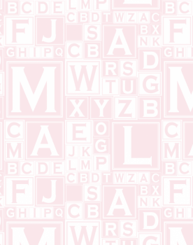 ALPHABET BLOCKS Dusky Pink Pink1