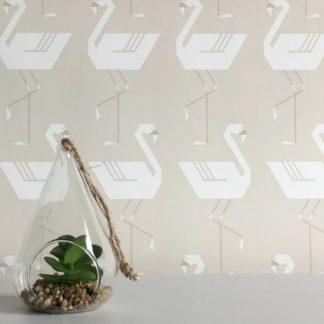 Flamingos in a line neutral