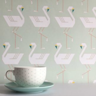 Flamingos in a lines mint