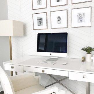 Herringbone Line Light Grey in a room